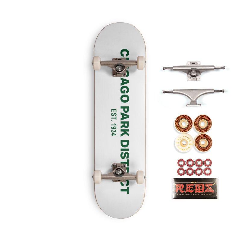 Chicago Park District Established - Green Accessories Skateboard by chicago park district's Artist Shop