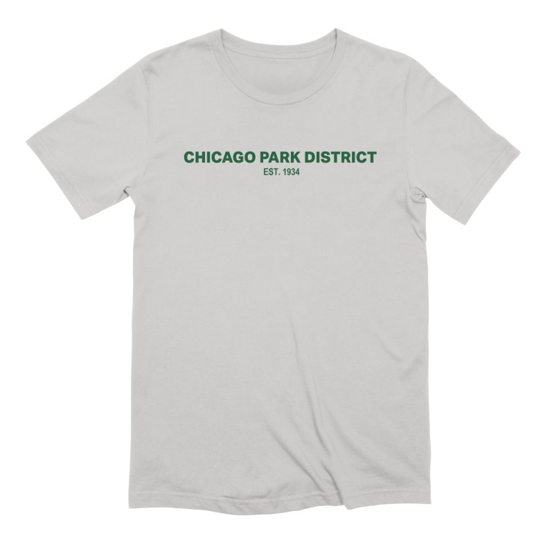 Chicago Park District Established - Green Men's Extra Soft T-Shirt by chicago park district's Artist Shop