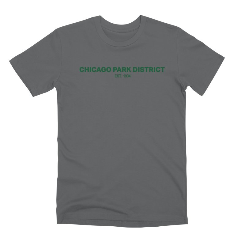 Chicago Park District Established - Green Men's Premium T-Shirt by chicago park district's Artist Shop