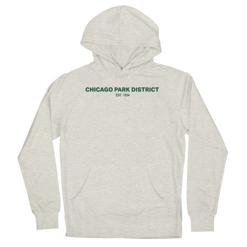 Chicago Park District Established - Green Women's French Terry Pullover Hoody by chicago park district's Artist Shop