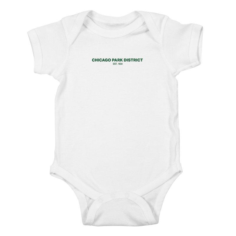 Chicago Park District Established - Green Kids Baby Bodysuit by chicago park district's Artist Shop