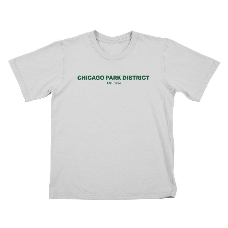 Chicago Park District Established - Green Kids T-Shirt by chicago park district's Artist Shop