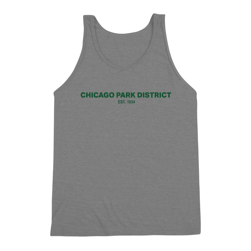 Chicago Park District Established - Green Men's Triblend Tank by chicago park district's Artist Shop
