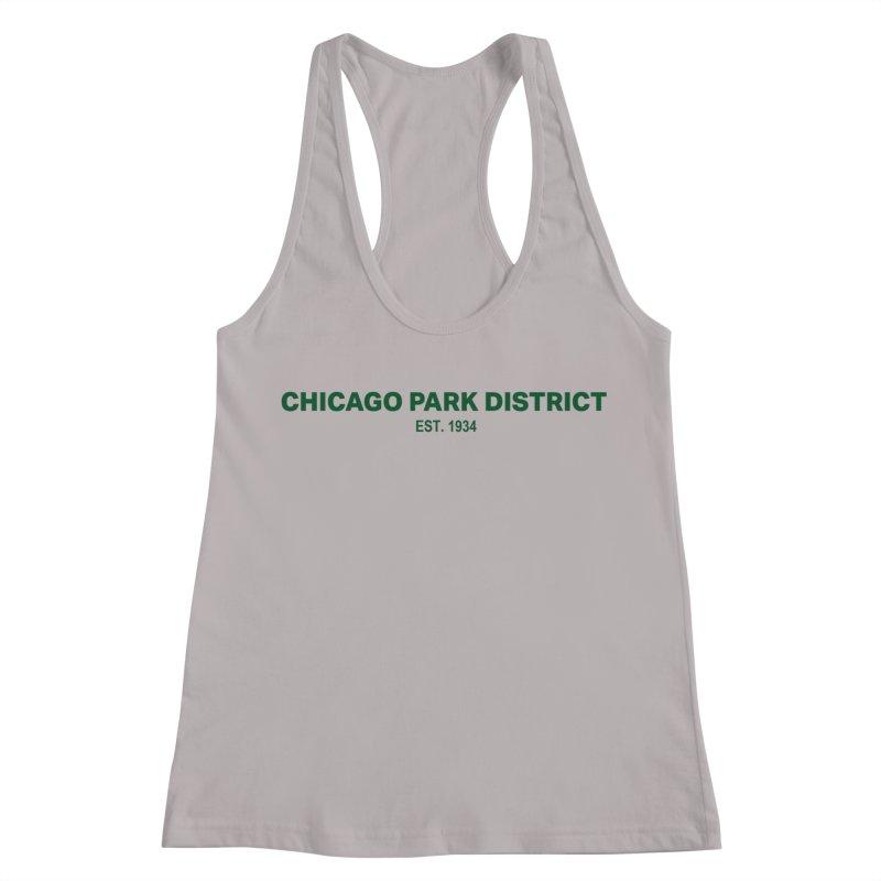 Chicago Park District Established - Green Women's Racerback Tank by chicago park district's Artist Shop