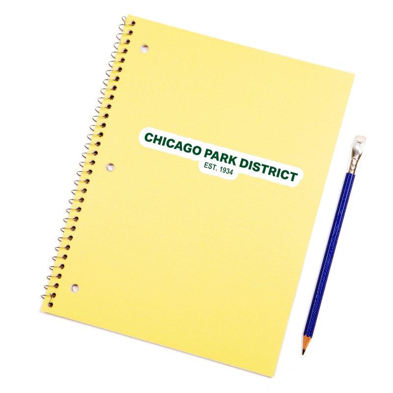 Chicago Park District Established - Green Accessories Sticker by chicago park district's Artist Shop