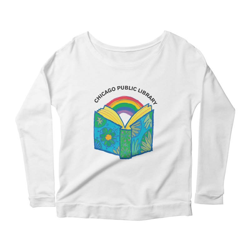 Summer 2019 Book Women's Scoop Neck Longsleeve T-Shirt by Chicago Public Library Artist Shop