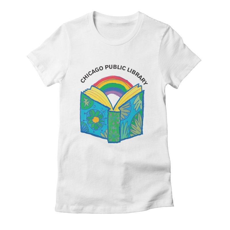 Summer 2019 Book Women's Fitted T-Shirt by Chicago Public Library Artist Shop