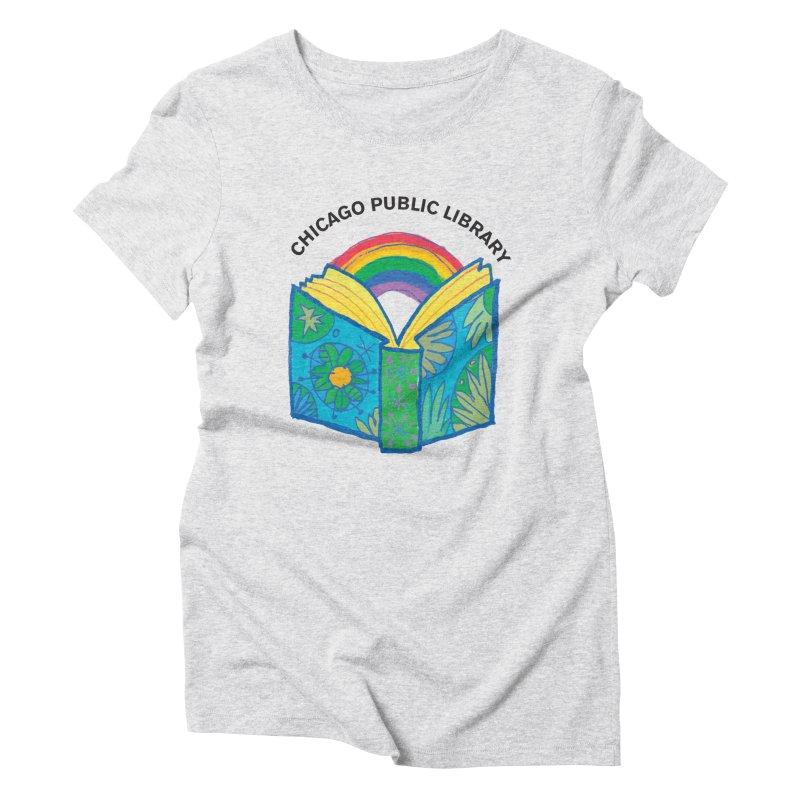 Summer 2019 Book Women's Triblend T-Shirt by Chicago Public Library Artist Shop