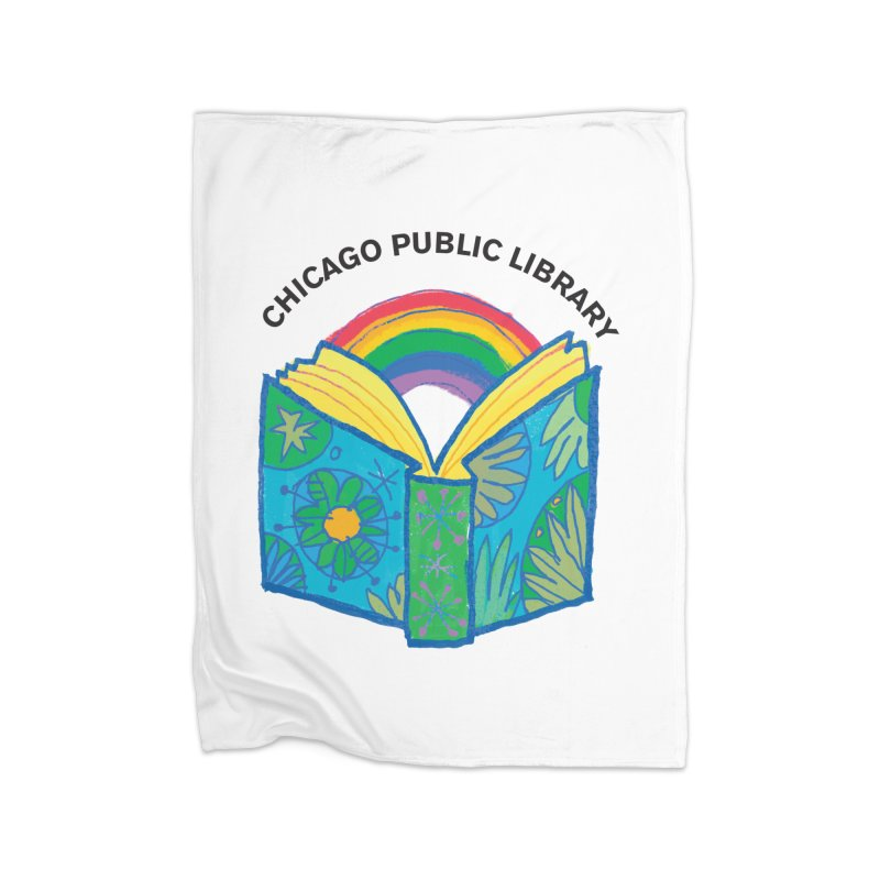 Summer 2019 Book Home Fleece Blanket Blanket by Chicago Public Library Artist Shop