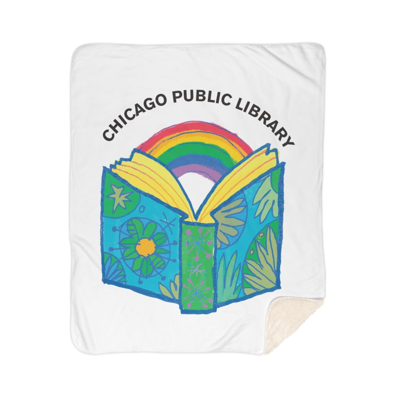 Summer 2019 Book Home Sherpa Blanket Blanket by Chicago Public Library Artist Shop