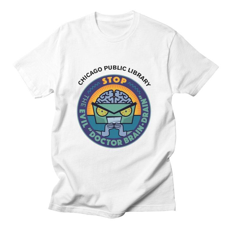 Summer 2019 Dr. Brain Drain Men's Regular T-Shirt by Chicago Public Library Artist Shop
