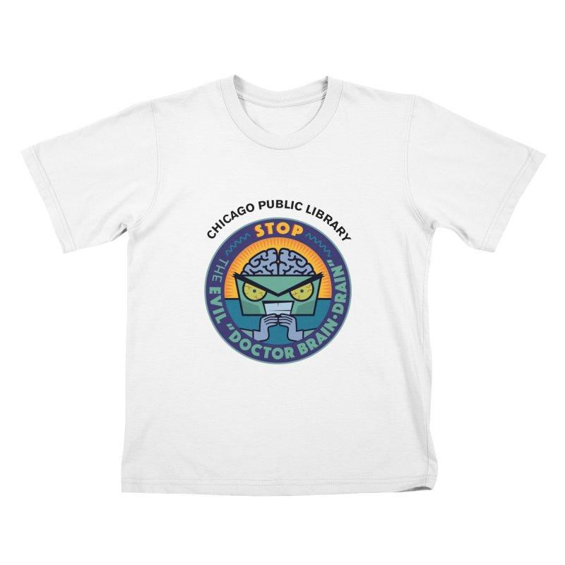Summer 2019 Dr. Brain Drain Kids T-Shirt by Chicago Public Library Artist Shop