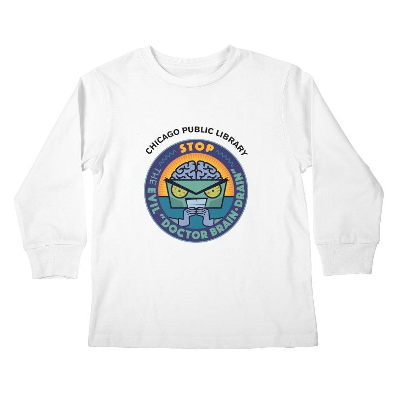 Summer 2019 Dr. Brain Drain Kids Longsleeve T-Shirt by Chicago Public Library Artist Shop