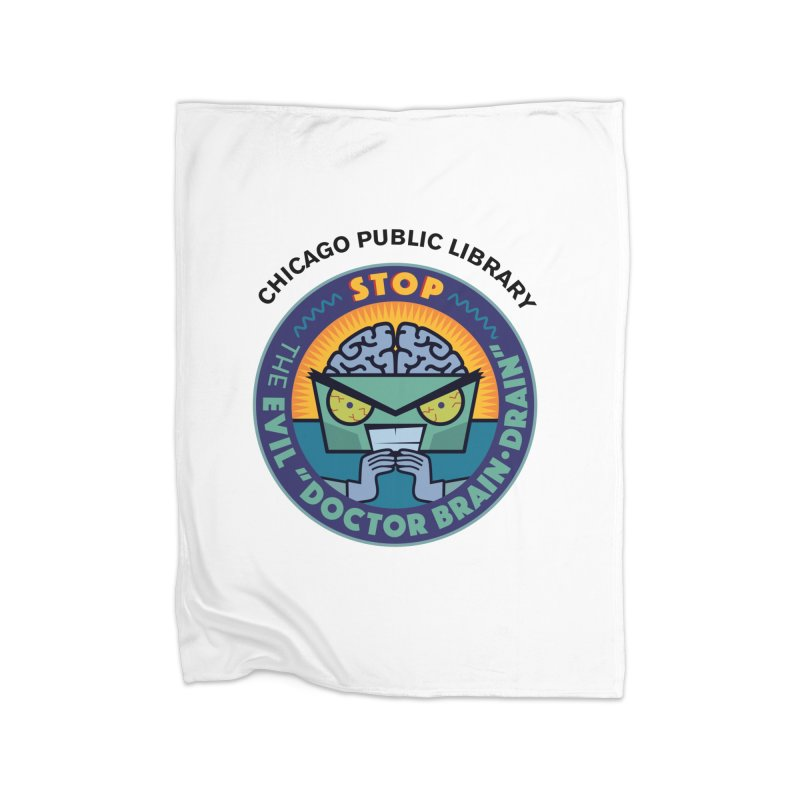 Summer 2019 Dr. Brain Drain Home Blanket by Chicago Public Library Artist Shop
