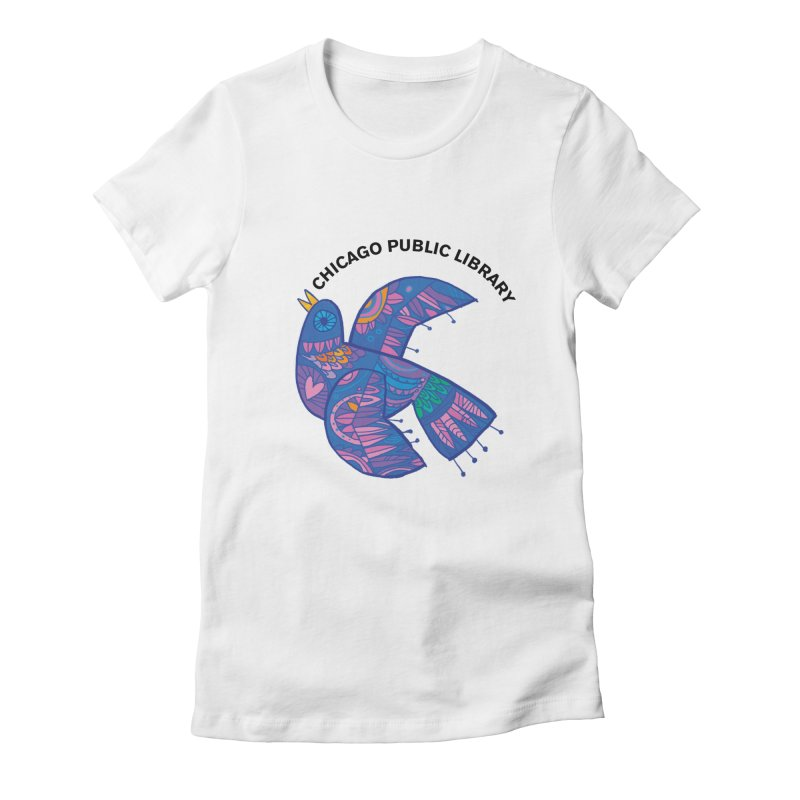 Summer 2019 Bird Women's Fitted T-Shirt by Chicago Public Library Artist Shop