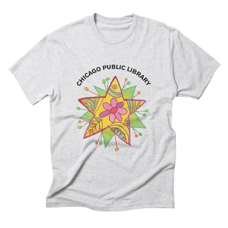Summer 2019 Star Men's Triblend T-Shirt by Chicago Public Library Artist Shop
