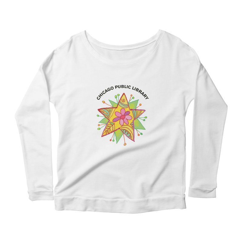 Summer 2019 Star Women's Scoop Neck Longsleeve T-Shirt by Chicago Public Library Artist Shop