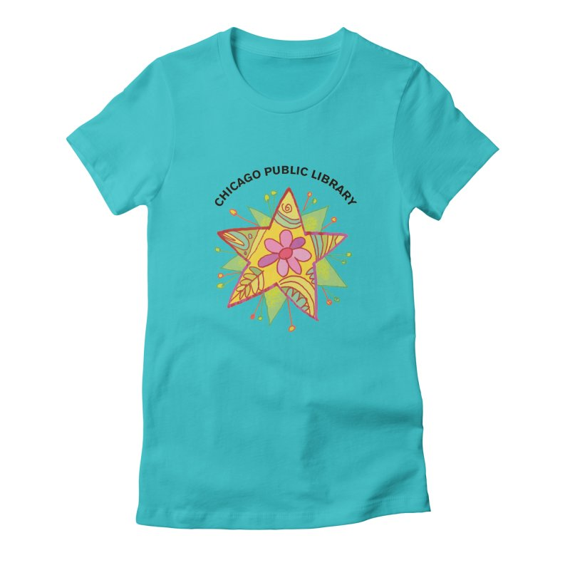 Summer 2019 Star Women's Fitted T-Shirt by Chicago Public Library Artist Shop