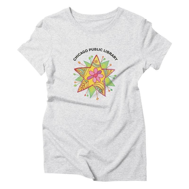 Summer 2019 Star Women's Triblend T-Shirt by Chicago Public Library Artist Shop