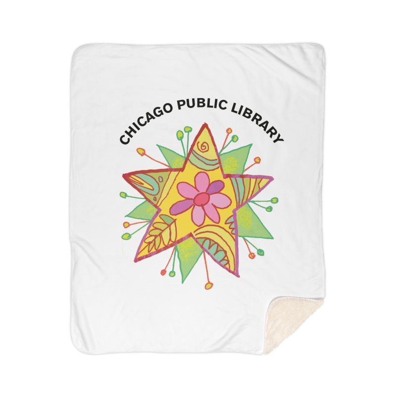Summer 2019 Star Home Sherpa Blanket Blanket by Chicago Public Library Artist Shop
