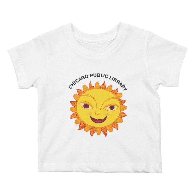 Summer 2019 Sun Kids Baby T-Shirt by Chicago Public Library Artist Shop