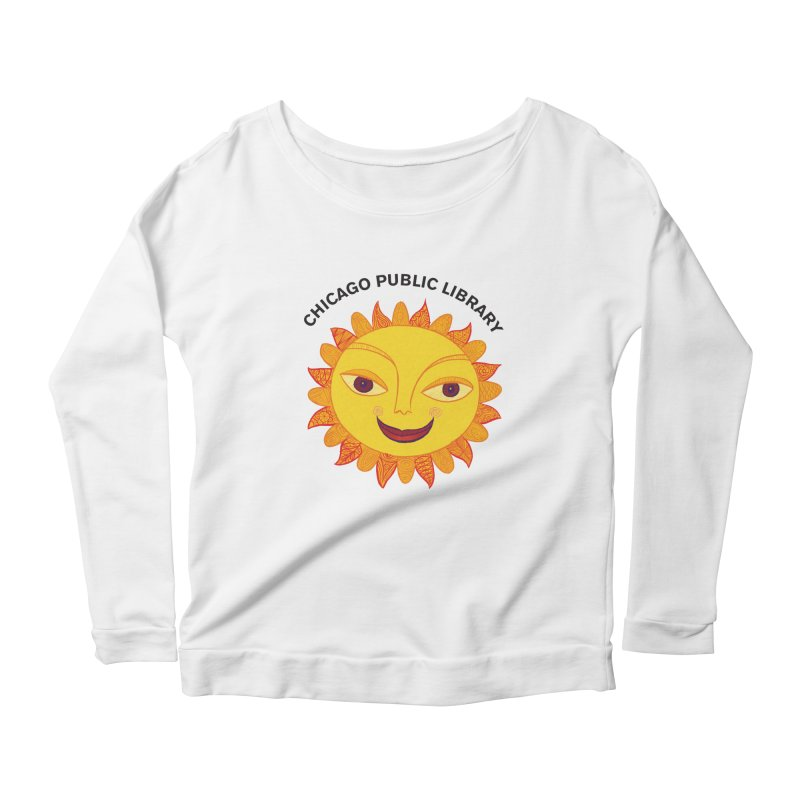 Summer 2019 Sun Women's Scoop Neck Longsleeve T-Shirt by Chicago Public Library Artist Shop