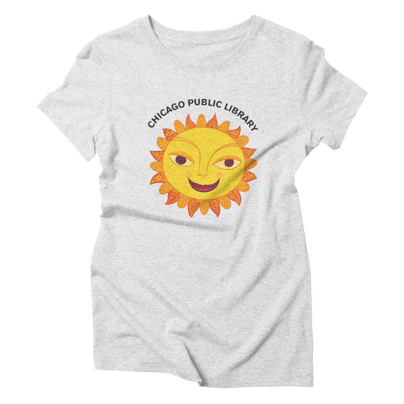 Summer 2019 Sun Women's Triblend T-Shirt by Chicago Public Library Artist Shop