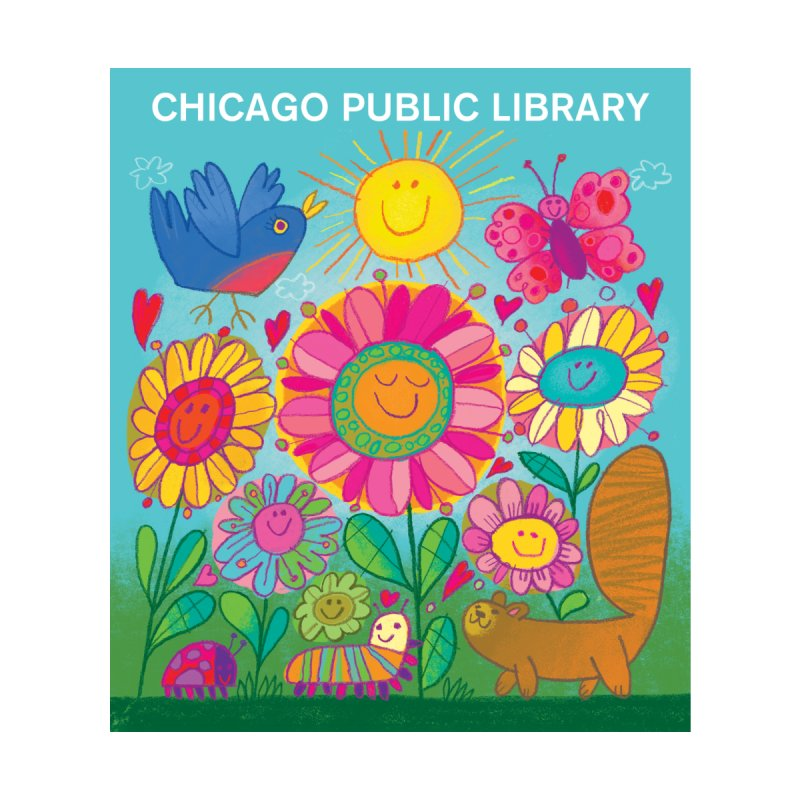 Summer 2019 Flowers Home Blanket by Chicago Public Library Artist Shop