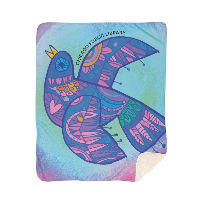Summer 2019 Bird Background Home Sherpa Blanket Blanket by Chicago Public Library Artist Shop