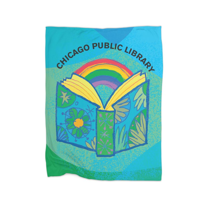 Summer 2019 Book Background Home Fleece Blanket Blanket by Chicago Public Library Artist Shop