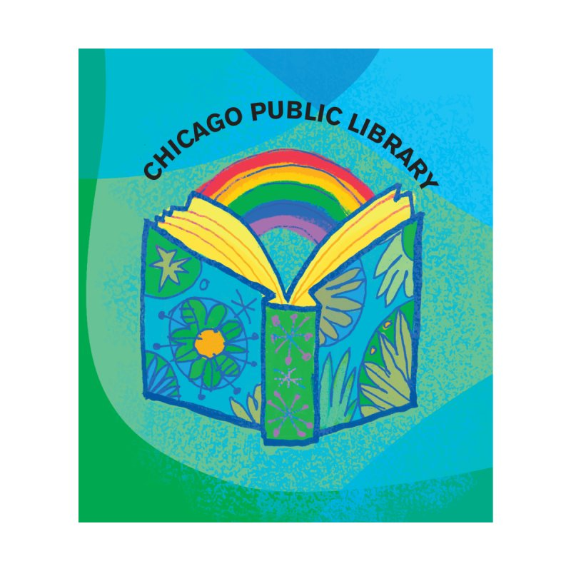 Summer 2019 Book Background Home Blanket by Chicago Public Library Artist Shop