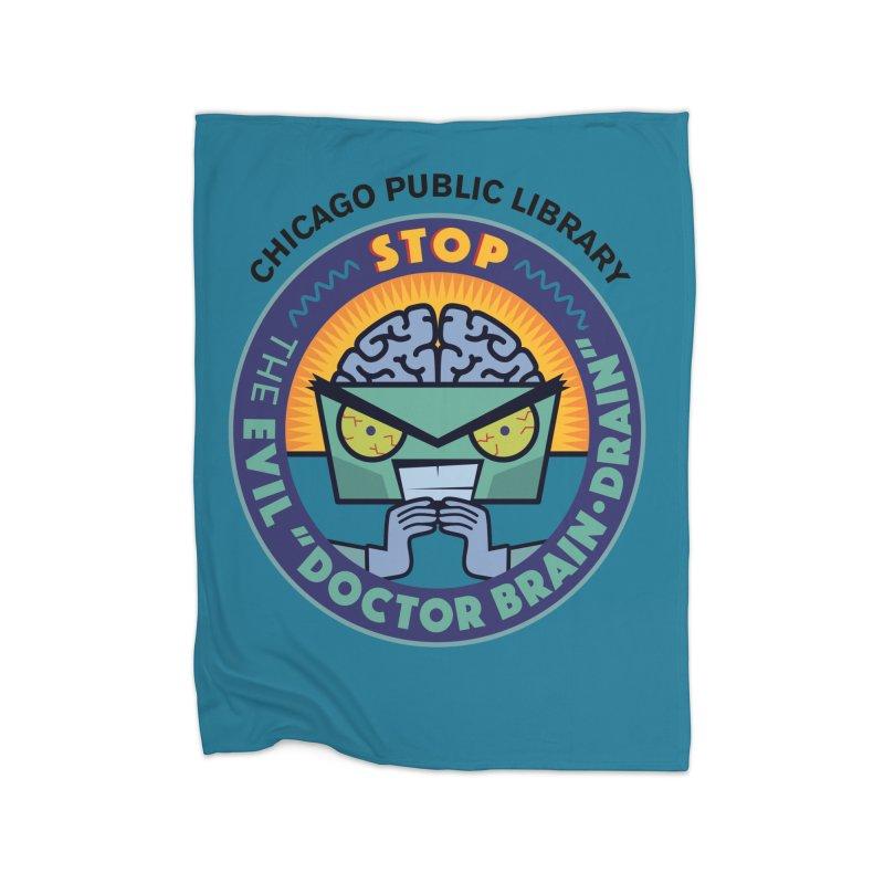 Summer 2019 Dr. Brain Drain Background Home Fleece Blanket Blanket by Chicago Public Library Artist Shop