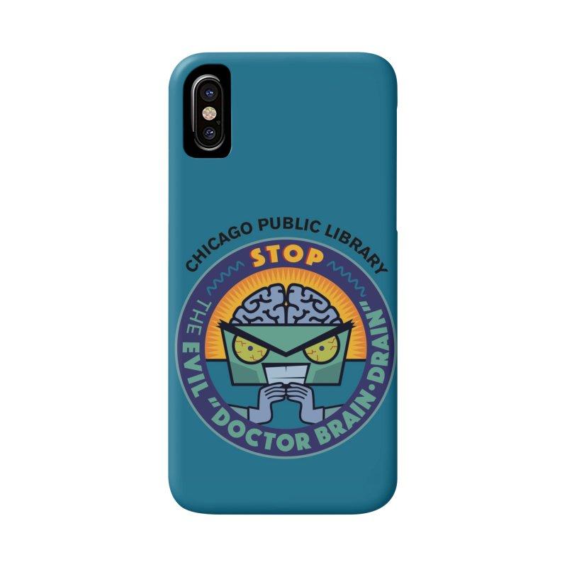 Summer 2019 Dr. Brain Drain Background Accessories Phone Case by Chicago Public Library Artist Shop