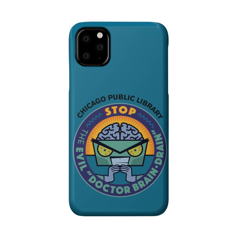 Summer 2019 Dr. Brain Drain Background Accessories Phone Case by Chicago Public Library Artist Shop