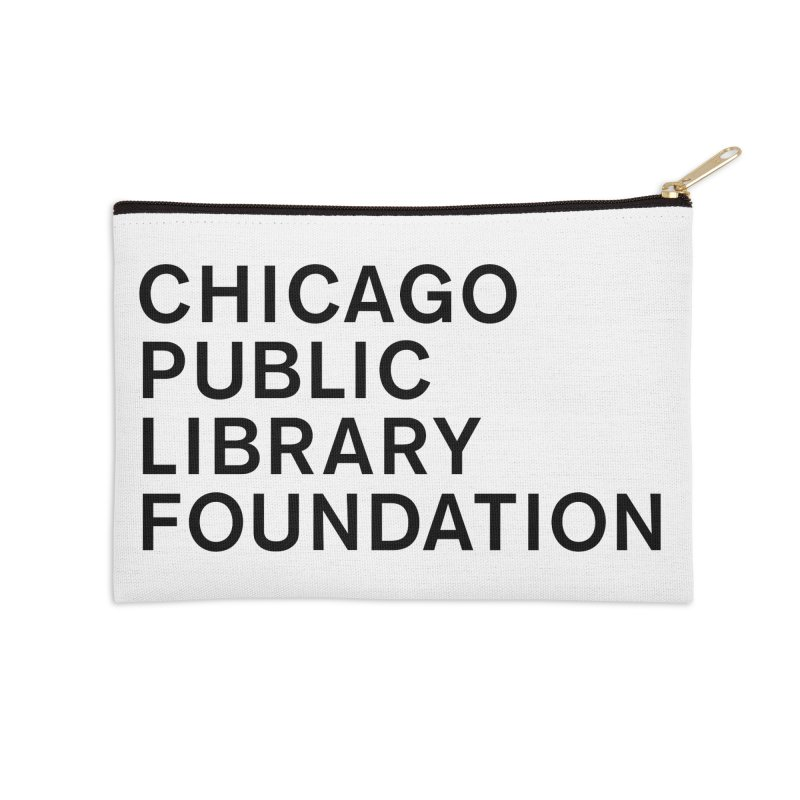 Library Foundation Logo Master Accessories Zip Pouch by Chicago Public Library Artist Shop