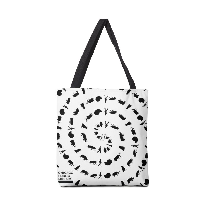 One Book, One Chicago 2019 Vortex Black Accessories Tote Bag Bag by Chicago Public Library Artist Shop