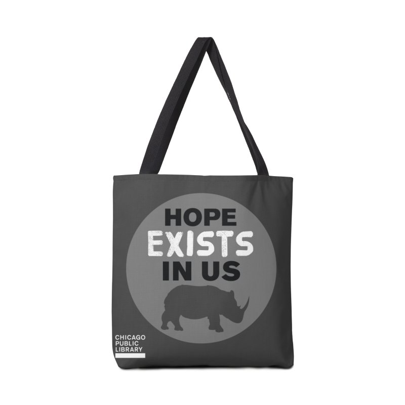 One Book, One Chicago 2019 Rhino White Accessories Tote Bag Bag by Chicago Public Library Artist Shop
