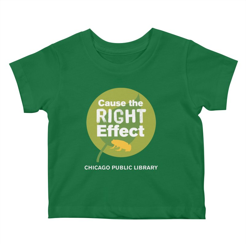 One Book, One Chicago 2019 Right Effect White Text Kids Baby T-Shirt by Chicago Public Library Artist Shop