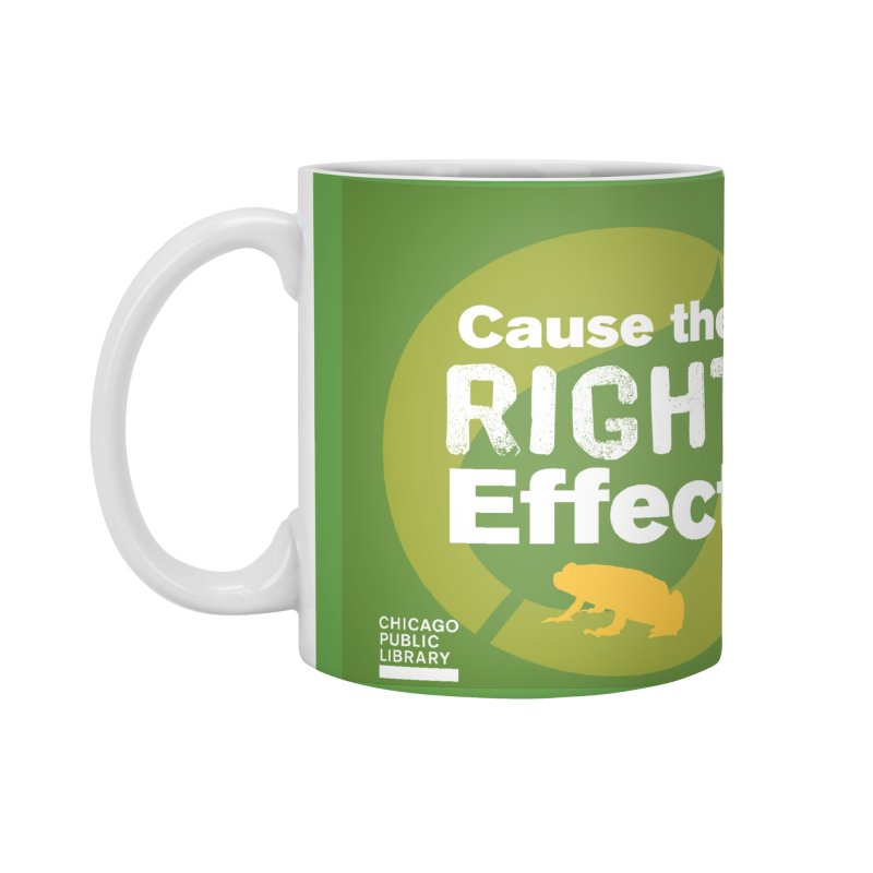 One Book, One Chicago 2019 Right Effect White Accessories Standard Mug by Chicago Public Library Artist Shop