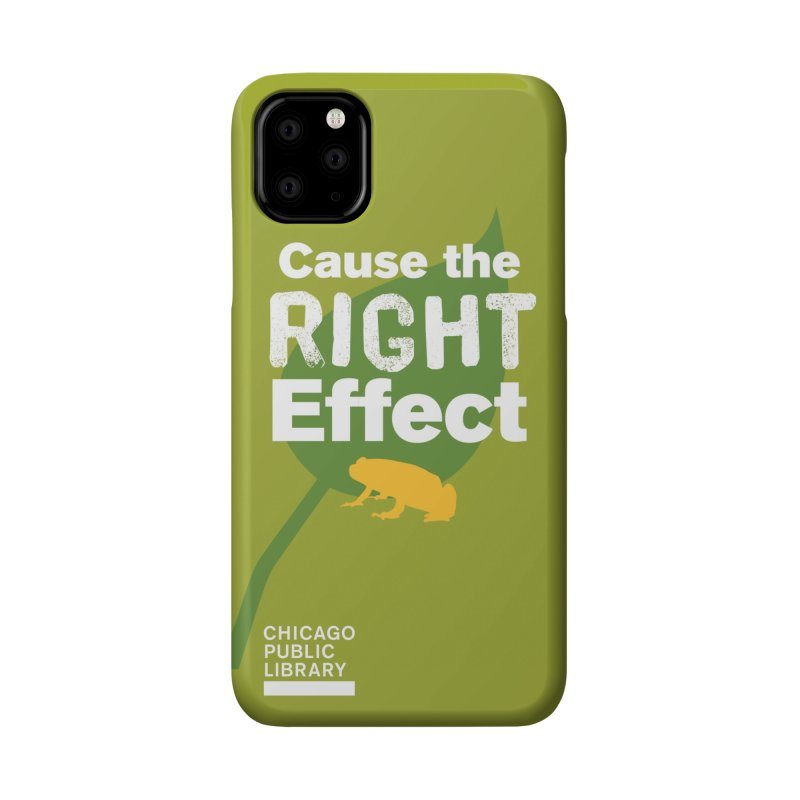 One Book, One Chicago 2019 Right Effect White Accessories Phone Case by Chicago Public Library Artist Shop