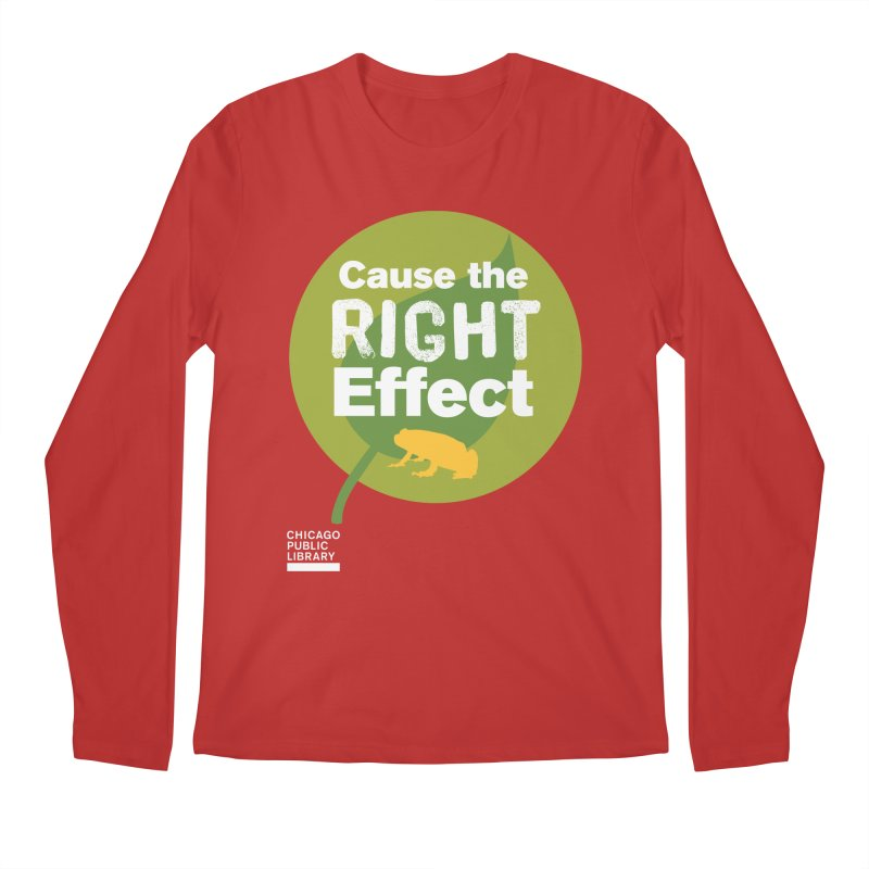 One Book, One Chicago 2019 Right Effect White Men's Regular Longsleeve T-Shirt by Chicago Public Library Artist Shop