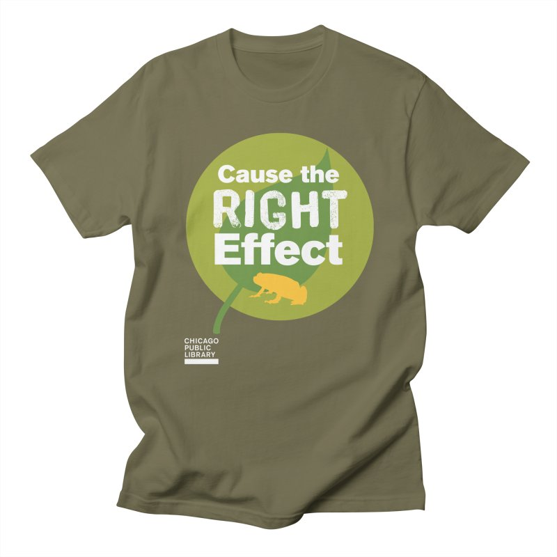 One Book, One Chicago 2019 Right Effect White Men's Regular T-Shirt by Chicago Public Library Artist Shop