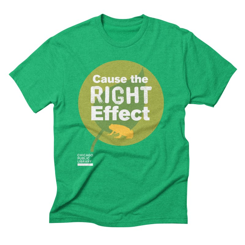One Book, One Chicago 2019 Right Effect White Men's Triblend T-Shirt by Chicago Public Library Artist Shop