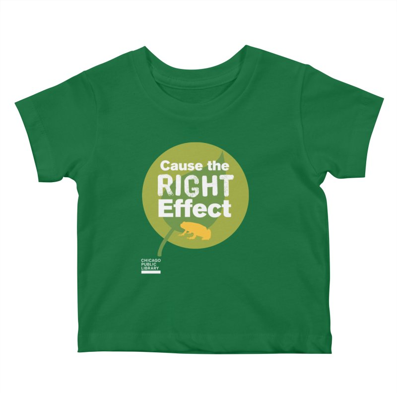 One Book, One Chicago 2019 Right Effect White Kids Baby T-Shirt by Chicago Public Library Artist Shop