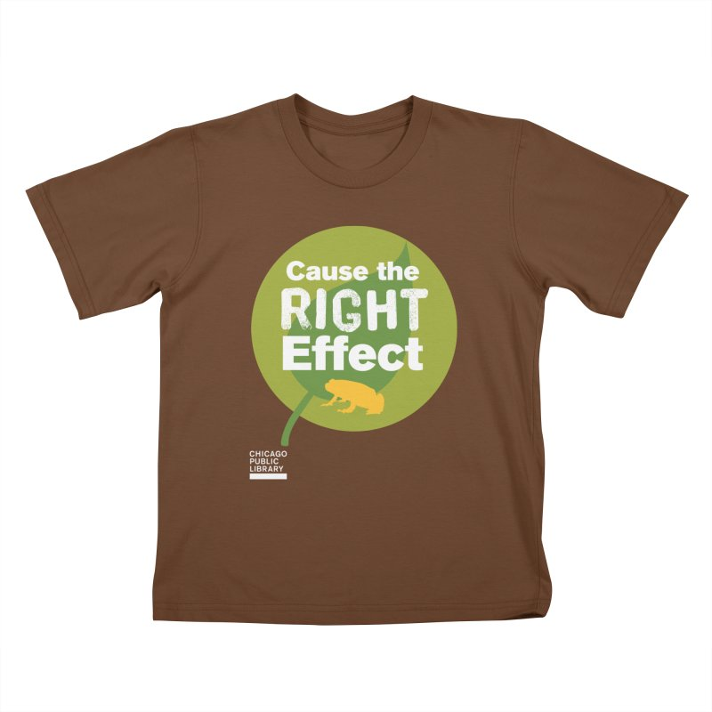 One Book, One Chicago 2019 Right Effect White Kids T-Shirt by Chicago Public Library Artist Shop