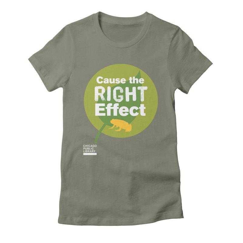 One Book, One Chicago 2019 Right Effect White Women's Fitted T-Shirt by Chicago Public Library Artist Shop