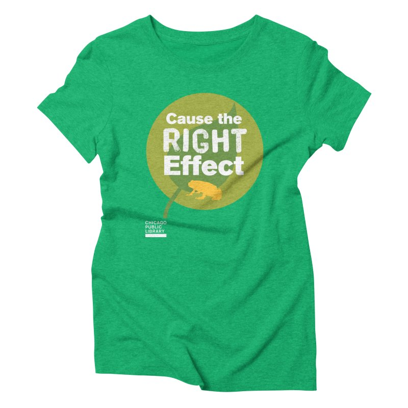 One Book, One Chicago 2019 Right Effect White Women's Triblend T-Shirt by Chicago Public Library Artist Shop