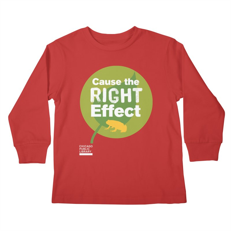 One Book, One Chicago 2019 Right Effect White Kids Longsleeve T-Shirt by Chicago Public Library Artist Shop