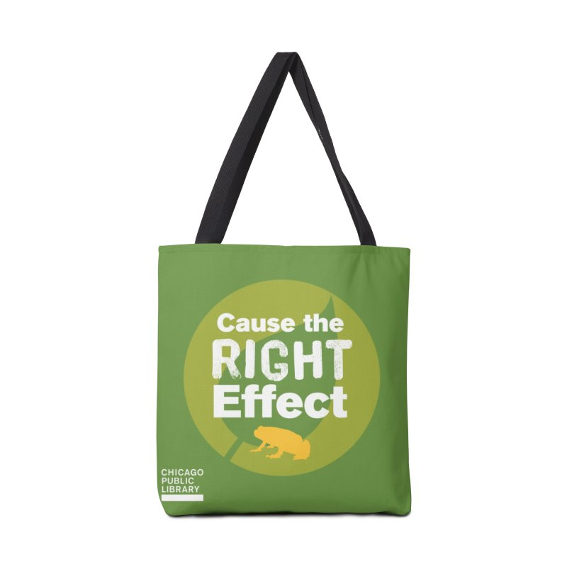 One Book, One Chicago 2019 Right Effect White Accessories Tote Bag Bag by Chicago Public Library Artist Shop