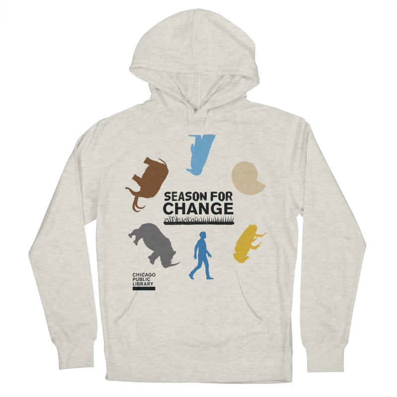 One Book, One Chicago 2019 Season of Change Roundabout Black Men's French Terry Pullover Hoody by Chicago Public Library Artist Shop